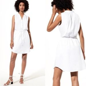 Babaton (Aritzia) white Benedict Shirtdress